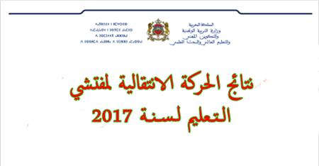 نتيجة الحركة الانتقالية لمفتشي التعليم لسنة 2017