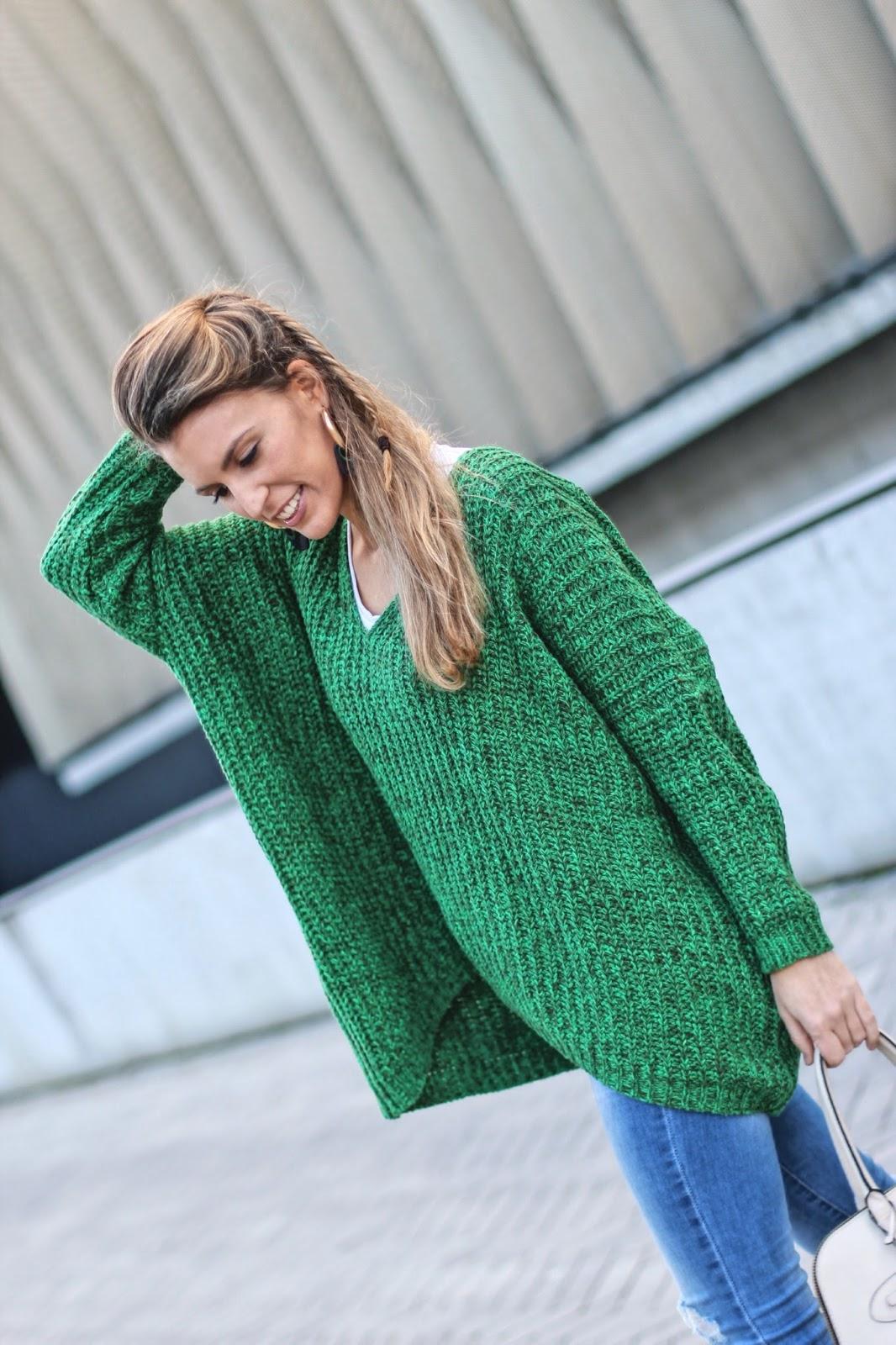 jersey verde punto grueso