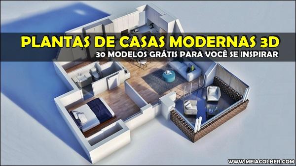 30 modelos plantas projetos de casas modernas em 3d