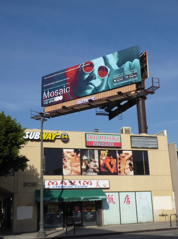 Mosaic tv series billboard