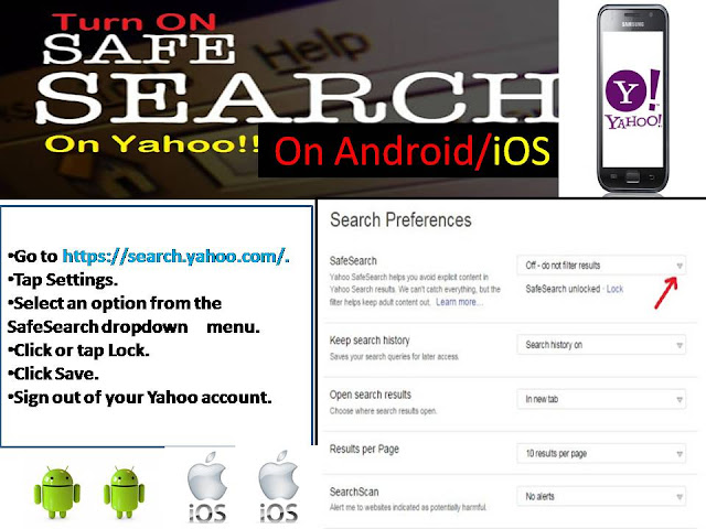 yahoo safe search turn off