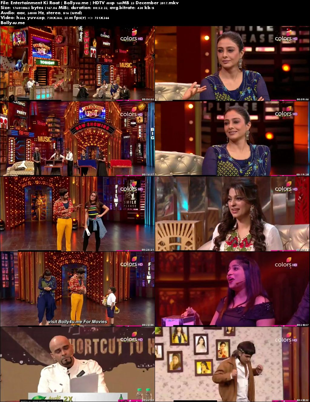 Entertainment Ki Raat HDTV 480p 170MB 23 Dec 2017 Download