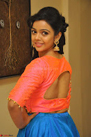 Nithya Shetty in Orange Choli at Kalamandir Foundation 7th anniversary Celebrations ~  Actress Galleries 061.JPG