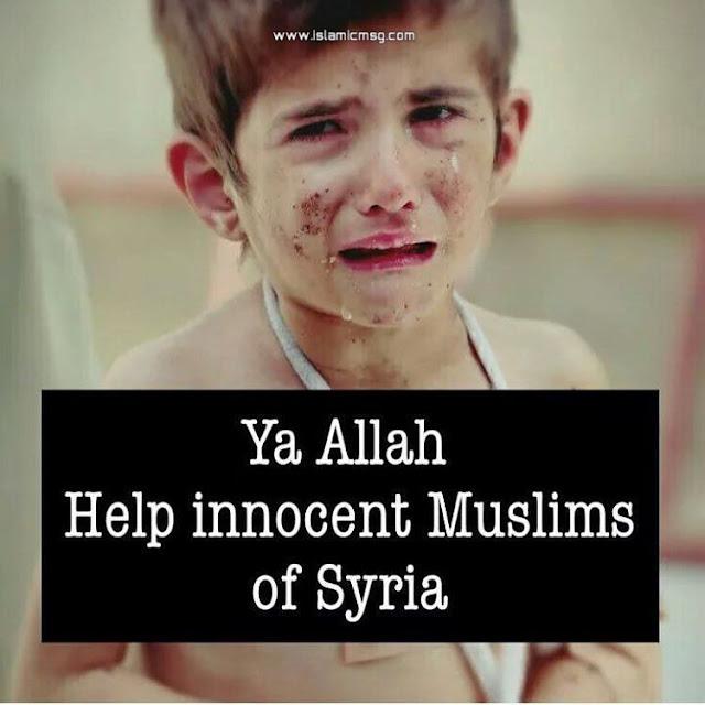 syria muslim kids crying