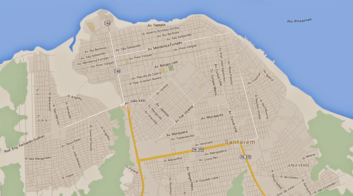 mapa de santarem Mapas de Santarém   PA | MapasBlog mapa de santarem