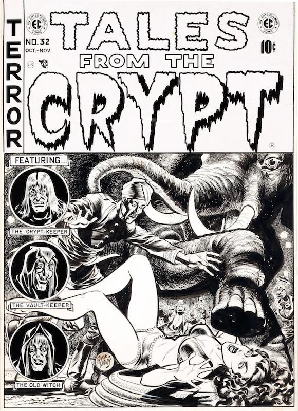 Tales from the Crypt #32:  Al Feldstein writer  Bill Gaines editor  Fred Peters inker, penciler  George Evans inker, penciler  Graham Ingels inker, penciler  Jack Davis cover, inker, penciler.