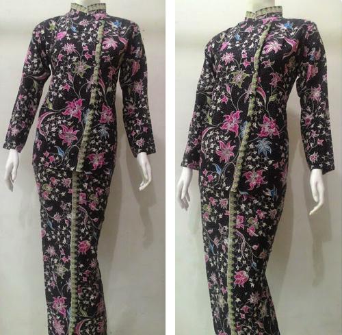 model baju batik pramugari lengan panjang