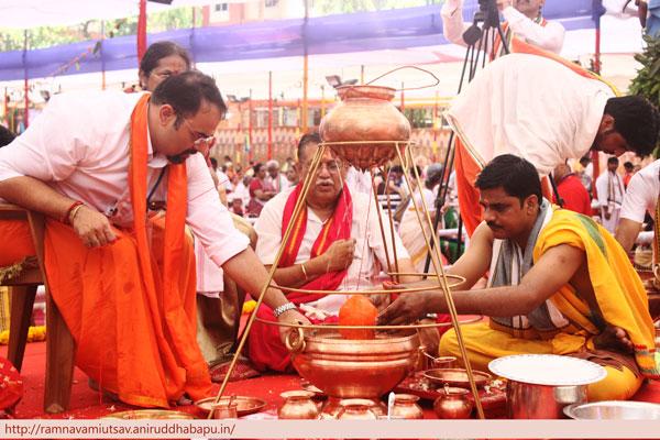 Sahastradhara Abhishek on Renuka Mata on Ramnavami