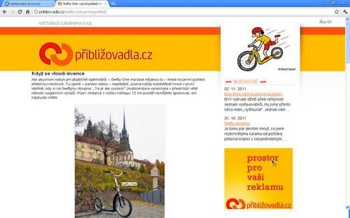essai trottinette anglaise Swift sur le site priblizovadla.cz