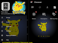Download BBM Pikachu V3.0.0.18 Apk Terbaru