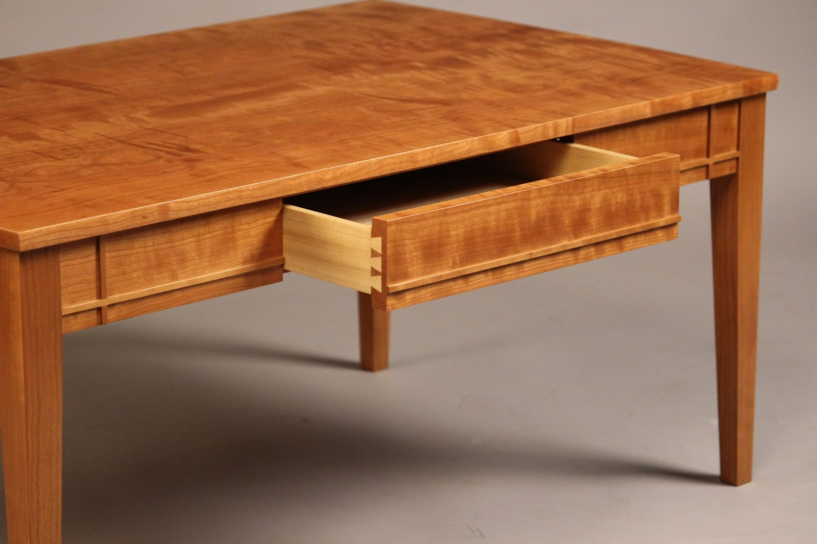 Coffee Table Solid Wood · Best Furniture Makers Solid Wood Cherry, Curly  Cherry,