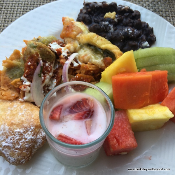 selections from breakfast buffet at La Casona at Villa La Estancia in Nuevo Vallarta, Mexico