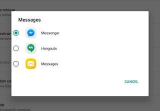 Default SMS app