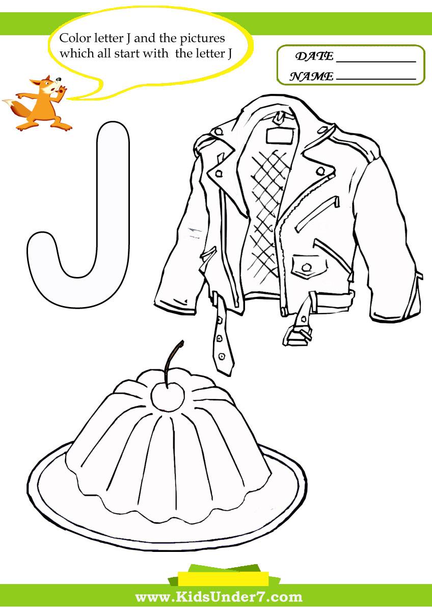 Kids Under 7: Letter J Worksheets and Coloring Pages