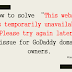 'This website is temporarily unavailable. Please try again later' solution for Godaddy domain owners.