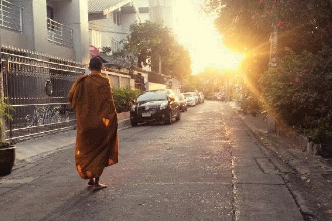 Tha Monk in Dusit District in Bangkok Thailand © 2014 Michael LaPalme