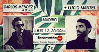 Concierto de Carlos Méndez y Lucio Mantel en Fotomatón Bar