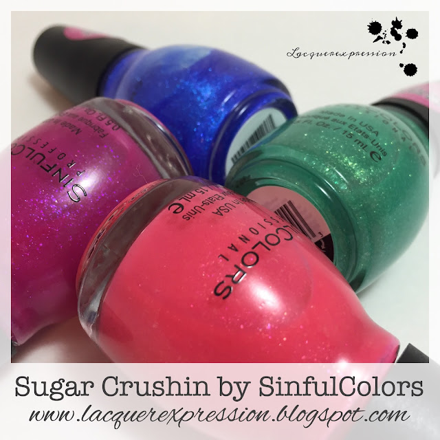 Sugar Crushin nail polish collection by Sinful Colors