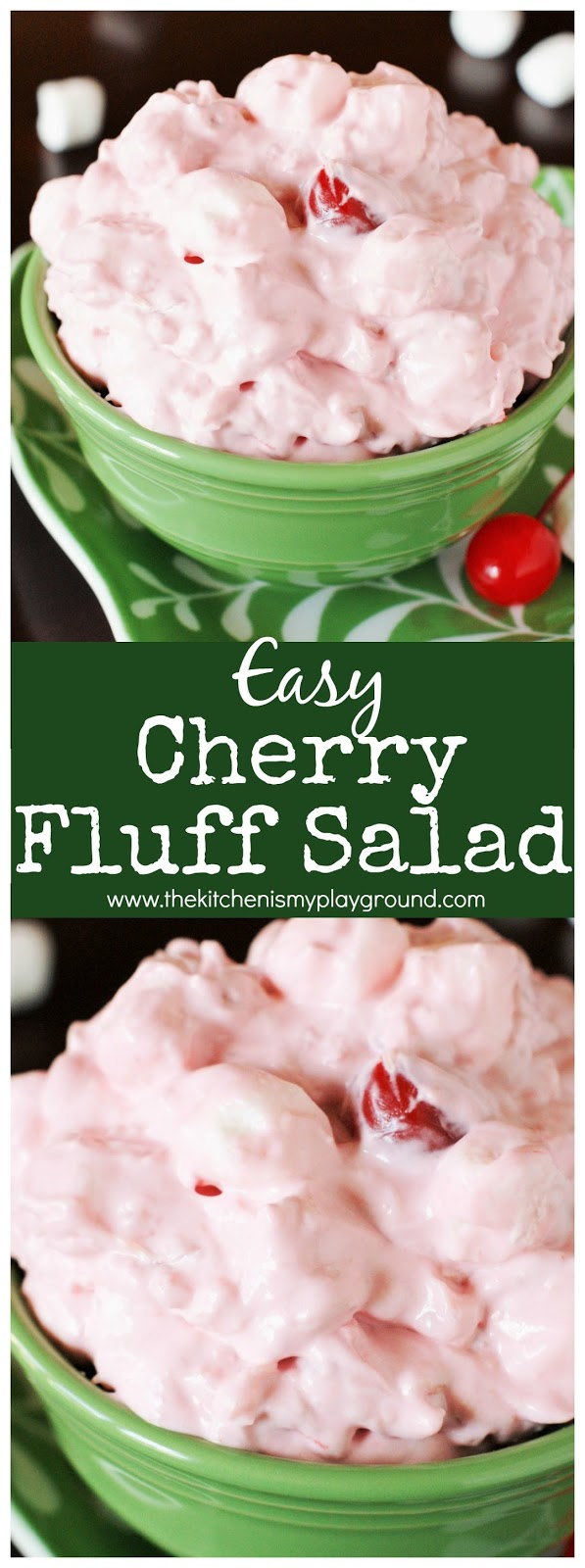 cherry fluff salad with cherry pie filling  a peek at my