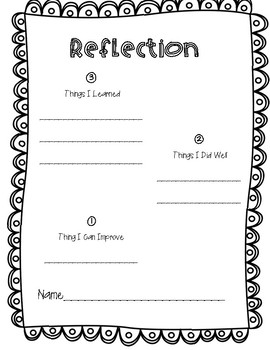 Reflection Resources in the TpT Store