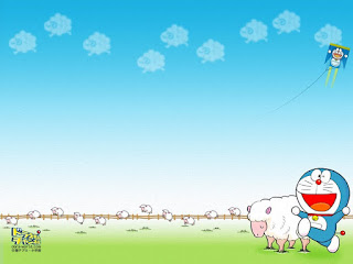 Background powerpoint gambar doraemon