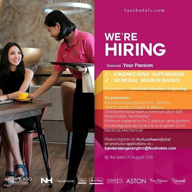 Lowongan kerja Favehotel Bandara Tangerang 2018 bagian 3