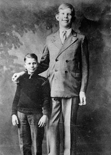 Robert Wadlow de joven a la edad de 10 años