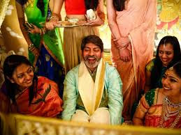 Jagapathi Babu in his daughter's wedding
