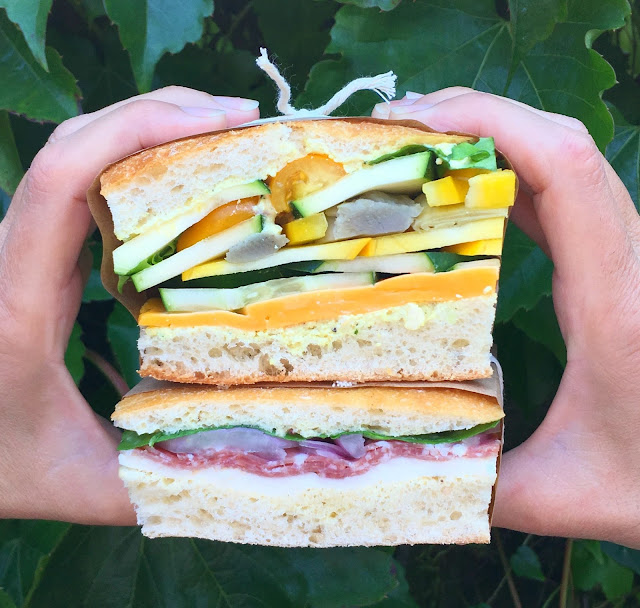 4 Fun Colorful Pressed Sandwiches - Perfect make ahead Tailgate Party idea