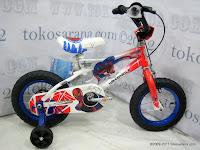 1 Sepeda Anak Wimcycle Spiderman 12 Inci