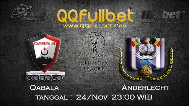 PREDIKSIBOLA - Prediksi Taruhan Bola Qabala vs Anderlecht 24 November 2016 (UEFA Europa League)