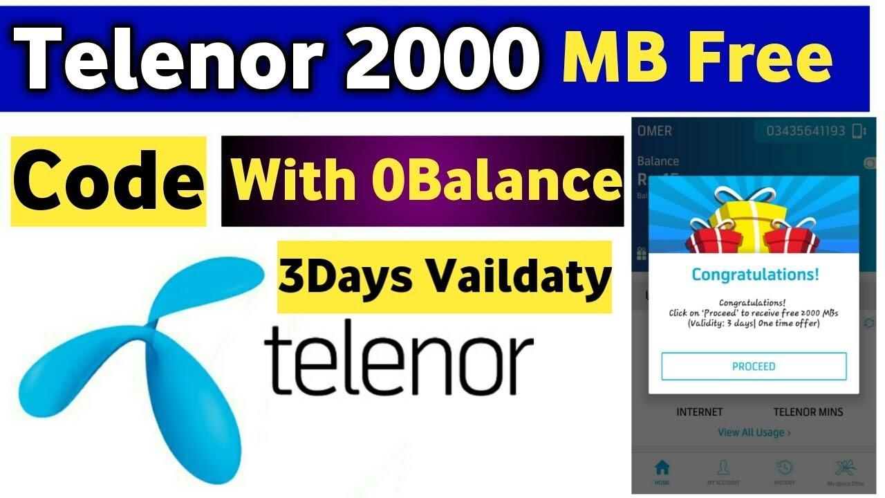 Telenor Free 2GB Internet - Asad Studio