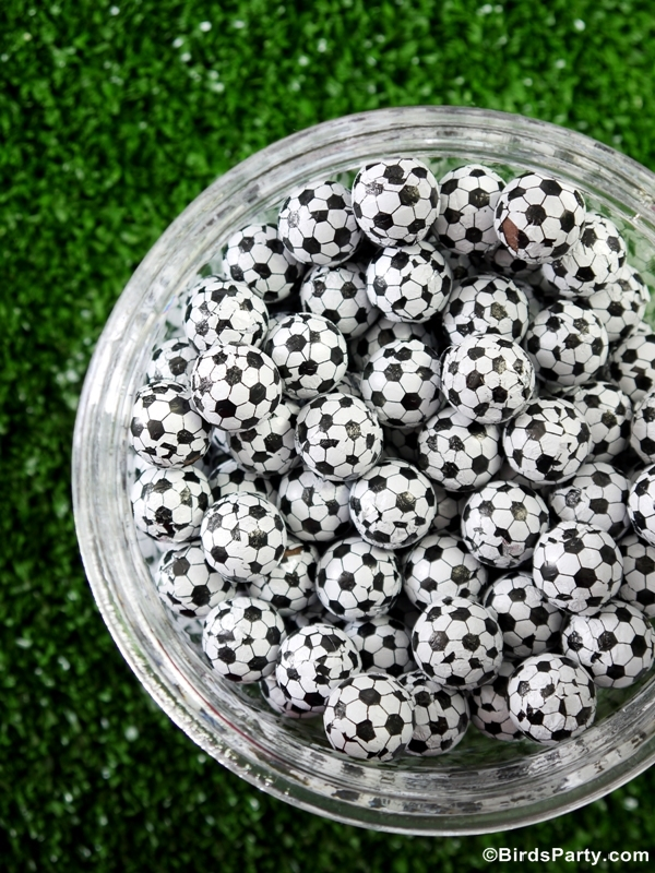 Soccer Football Birthday Party Desserts Table Ideas - BirdsParty.com