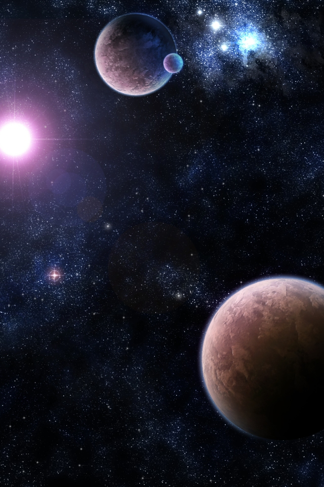 HD Nebulae Wallpapers for iPhone 4