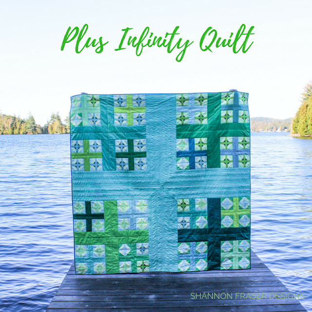 Plus Infinity Quilt | Modern Quilt Pattern | Shannon Fraser Designs | RJR Fabrics Cotton Supreme Solids | What Shade Are You | Plus Quilt
