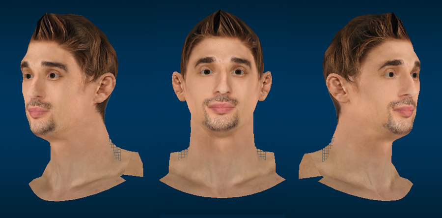 NBA 2K14 Alexey Shved Cyberface (Spiked Up Hair)