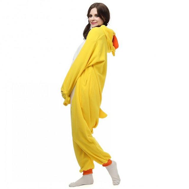 Yellow Duck Kigurumi Onesies Pajamas