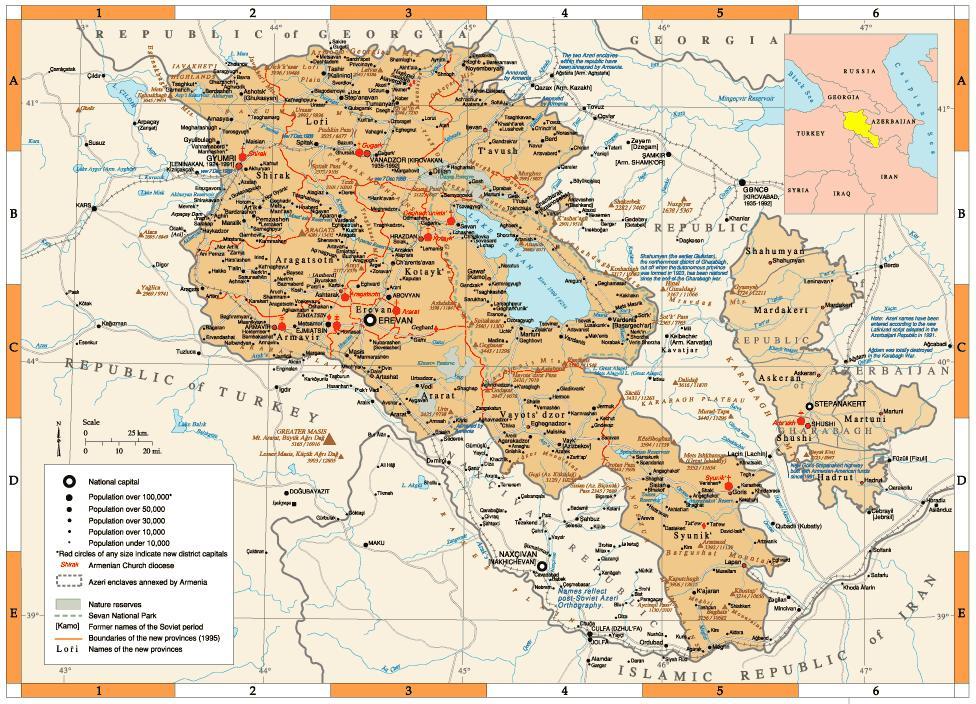 Armênia | Mapas Geográficos da Armênia