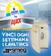 Logo Con Ajax, Fabuloso e Soflan vinci lavatrici Smeg e un omaggio sicuro per tutti