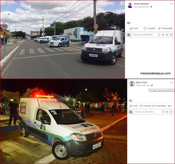 Prefeitura de Santa Cruz fez duas festas para entregar a mesma ambulância como se fosse nova