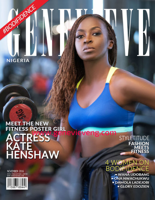 Kate Henshaw cover Genevieve Magazine November 2016 edition.