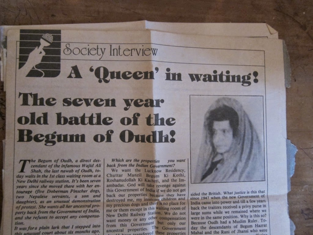 News about Begum of Oudh in Society magazine India 1981