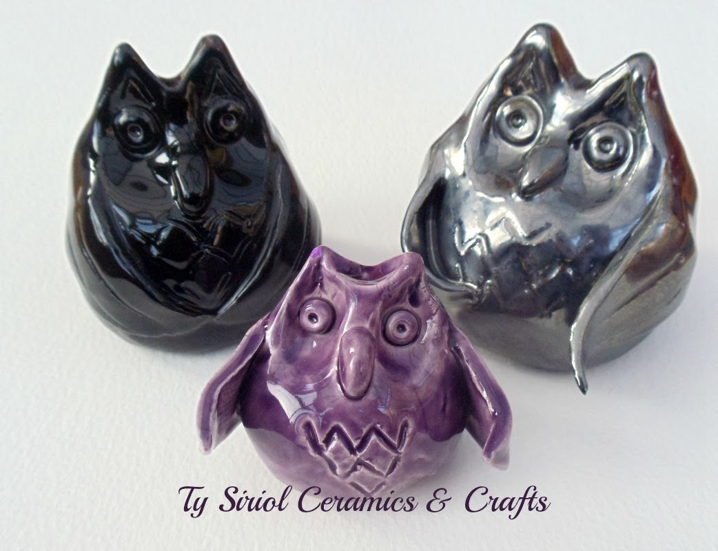 Family of ceramic owls. How to make clay owls