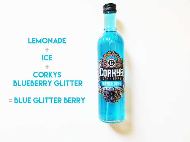 Blue Glitter Berry Cocktail Corky's