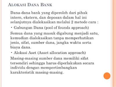 Alokasi Dana Bank