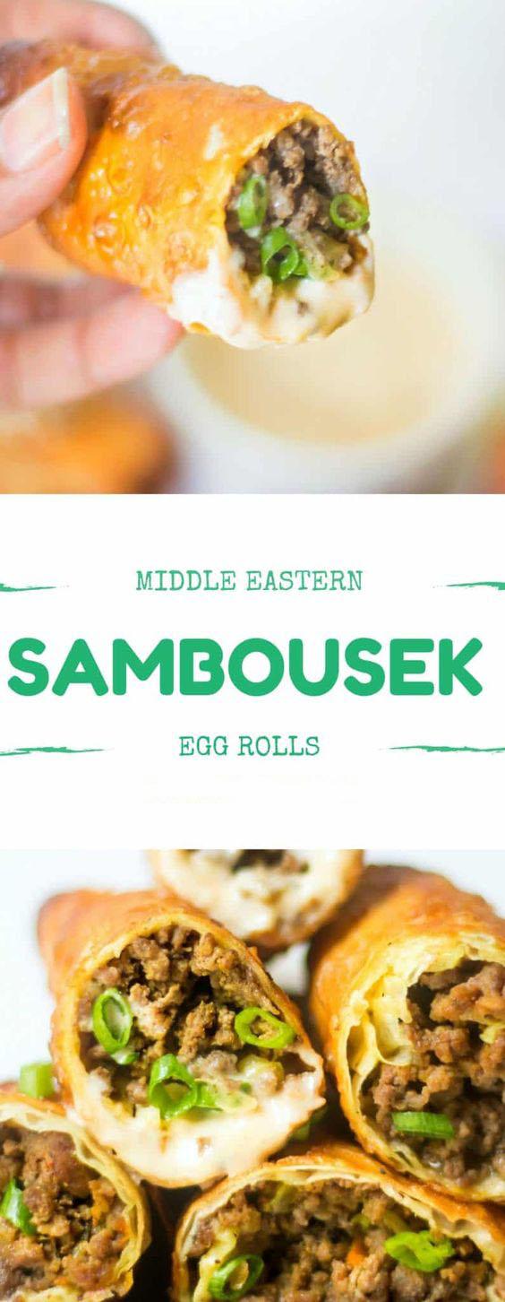 Middle Eastern Sambousek Egg Rolls
