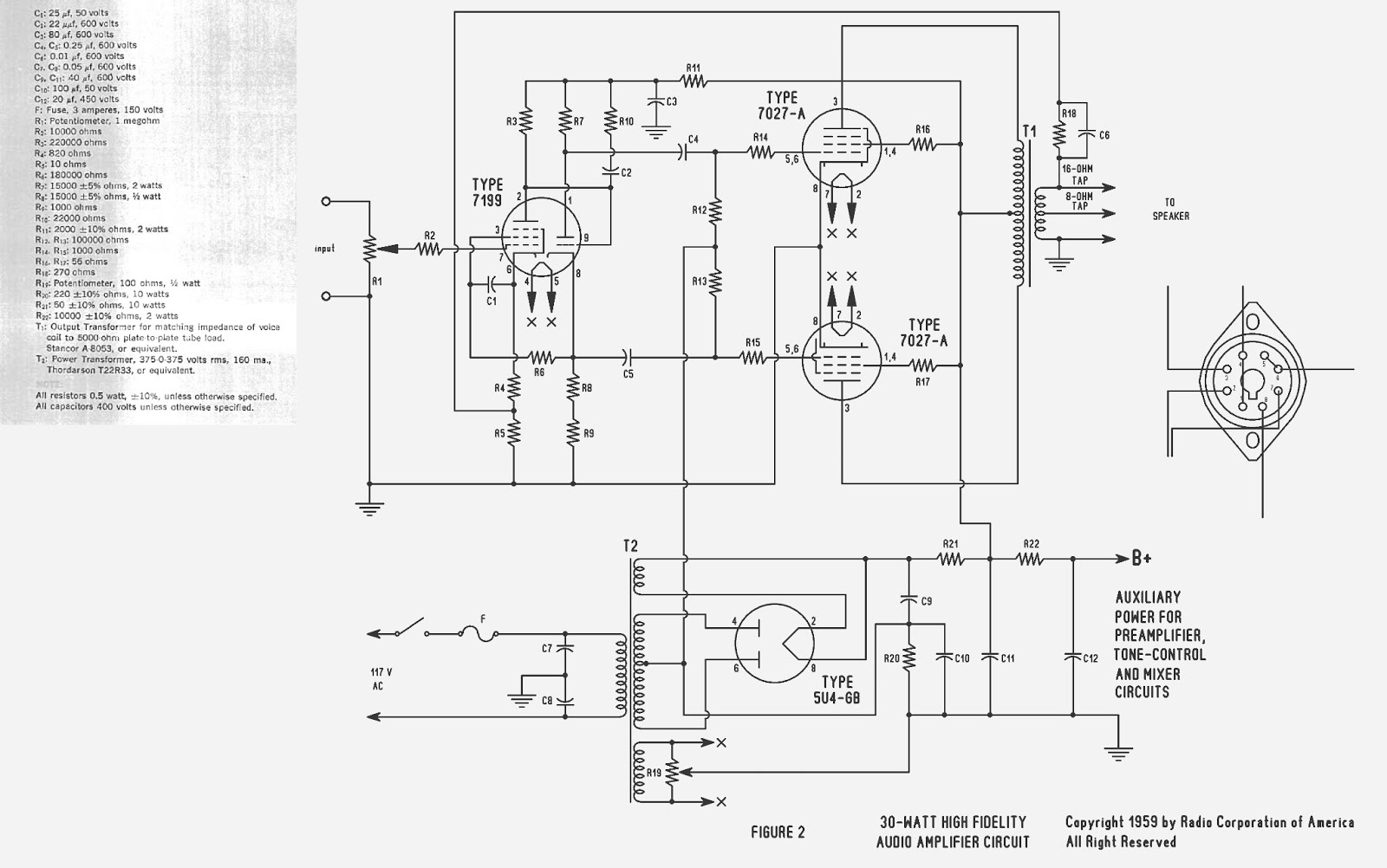Dx Super A : 1959 RCA tube amplifier project on synthesizer schematics, antique radio schematics, zenith schematics, 4cx1500b amplifier schematics, whirlpool schematics, tube audio amplifier schematics, otl amplifier schematics, yamaha schematics, usb schematics, kitchenaid schematics, radio shack schematics, magnavox schematics, bose schematics,