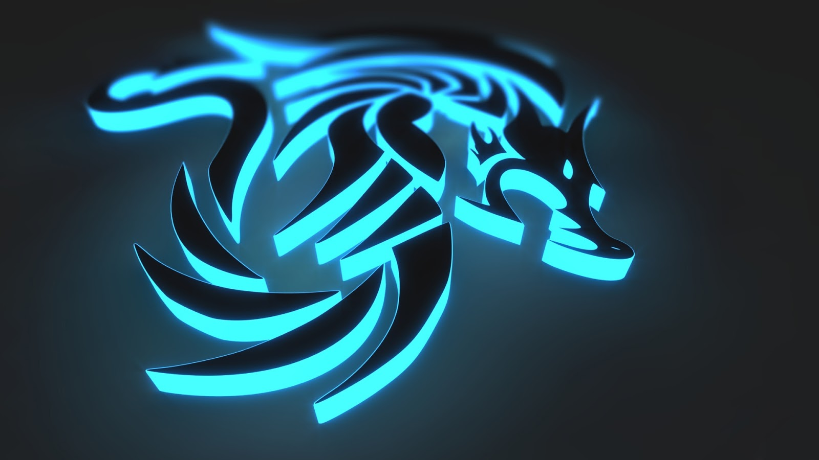 Neon Wallpapers for Android - Neon Blue Dragon