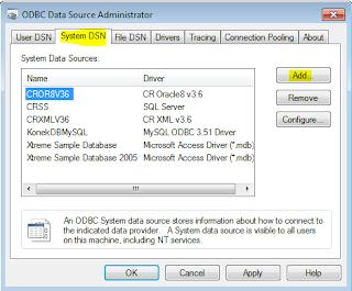 Membuat DSN Konektor DBAplikasi