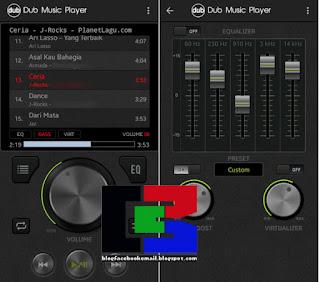 aplikasi musik paling keren Dub Music Player + Equalizer
